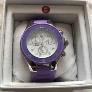 Purple Jelly Michele Watch